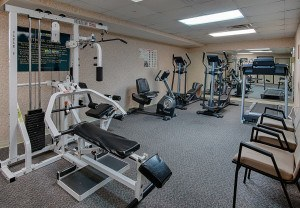 Fitness room available to guests at our Pigeon Forge hotel