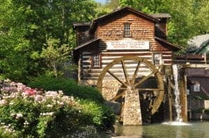 The gristmill at Dollywood.