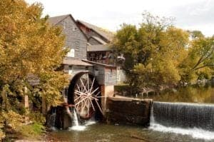 The Old Mill in Pigeon Forge during the fall.