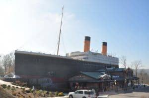 The outside of the Titanic Museum Attraction in Pigeon Forge.